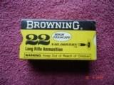 Vintage Browning .22 Lr. Nail Drivers Rim-Fire Ctgs.New Box of 50 Ctgs Circa 1960-70's