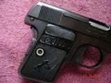 Colt 1908 Vest Pocket Semi-Auto.25 ACP MFG 1921 Excellent Over All, Blue with Case Colors Two tone Mag. Black Rubber Stocks - 8 of 13