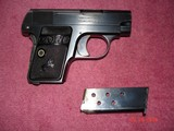 Colt 1908 Vest Pocket Semi-Auto.25 ACP MFG 1921 Excellent Over All, Blue with Case Colors Two tone Mag. Black Rubber Stocks - 4 of 13