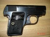 Colt 1908 Vest Pocket Semi-Auto.25 ACP MFG 1921 Excellent Over All, Blue with Case Colors Two tone Mag. Black Rubber Stocks - 3 of 13