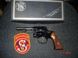 """Rare S&W Mod. 45-2 MP Post Office.22LR. Revolver 1 of 500 MFG19624""""BBl Original Box, Lettered, Excellent, Magna Stocks Numbered to Rev."""