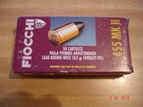 Hard to Find .455 Eley (455 MK II) MFG by Fiocchi 262 Gr. Lead Round Nose Ctgs. Box of 50 center fire Ctgs. - 2 of 6