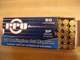 Hard to Find .22 Remington Jet Ctgs by Prvi-partizan 50 Round Boxes45 Gr. Jacketed soft points. - 3 of 5
