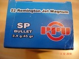 Hard to Find .22 Remington Jet Ctgs by Prvi-partizan 50 Round Boxes45 Gr. Jacketed soft points. - 5 of 5