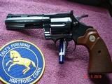 """Colt Diamondback Blue .22LR. 4"""" BBl. MFG in 1981Mint all Original Revolver Walnut Stocks with Gold Medallions - 15 of 15"""