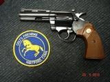 """Colt Diamondback Blue .22LR. 4"""" BBl. MFG in 1981Mint all Original Revolver Walnut Stocks with Gold Medallions - 1 of 15"""
