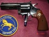 """Colt Diamondback Blue .22LR. 4"""" BBl. MFG in 1981Mint all Original Revolver Walnut Stocks with Gold Medallions - 14 of 15"""