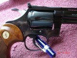 """Colt Diamondback Blue .22LR. 4"""" BBl. MFG in 1981Mint all Original Revolver Walnut Stocks with Gold Medallions - 5 of 15"""