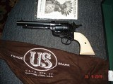 "USFA Mod. 12/22 NIB MFG 2006 5 1/2""BBl. Full Dome Blue, Checkered Old Ivory stocks Original Box,Papers & sock ETC. - 1 of 15"