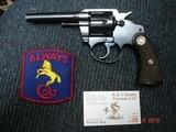 "Colt Police positive 1st issue Pre-War MFG 1927 .38S&W 4"" blue Near mint Checkered Walnut Stocks."