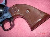 "USFA Rare Cowboy Convertible.38Spec ./ 9m/mLugar 5 1/2""BBl. Full Dome Blue Dual Cyls. Brown Checkered Burlwood Stocks, NIB - 4 of 15"