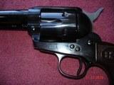 "USFA Rare Cowboy Convertible.38Spec ./ 9m/mLugar 5 1/2""BBl. Full Dome Blue Dual Cyls. Brown Checkered Burlwood Stocks, NIB - 5 of 15"