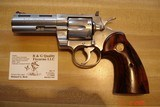 """Colt Python Stainless Steel MFG 1992 4""""BBl. .357Mag. As New looks unfired Target Coco Bolo Stocks Gold Medallions"""