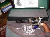 "Rare USFA 15th. Anniversary edition 1 of 15 .45 Colt Factory Engraved Full Coverage 5 1/2""BBl.Blue & Case Walnut Stocks NIB #4"
