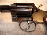 "Colt Police Positive Special 4""BBl. Mint MFG 1955 .32 Colt NP Cal. Blue Checkered Walnut Stocks - 17 of 18"