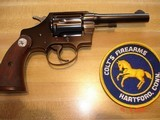 "Colt Police Positive Special 4""BBl. Mint MFG 1955 .32 Colt NP Cal. Blue Checkered Walnut Stocks - 1 of 18"