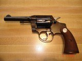 "Colt Police Positive Special 4""BBl. Mint MFG 1955 .32 Colt NP Cal. Blue Checkered Walnut Stocks - 4 of 18"