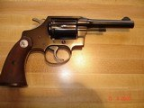 "Colt Police Positive Special 4""BBl. Mint MFG 1955 .32 Colt NP Cal. Blue Checkered Walnut Stocks - 3 of 18"
