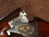 """Browning Superposed GD 1 Upgrade 1965 12Ga. 28"""" Game Scene Engraved with Gold Inlays by Bill Mains ExcellentRound Butt long tang - 17 of 20"""