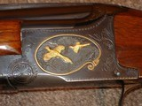 """Browning Superposed GD 1 Upgrade 1965 12Ga. 28"""" Game Scene Engraved with Gold Inlays by Bill Mains ExcellentRound Butt long tang - 7 of 20"""