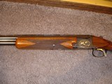 """Browning Superposed GD 1 Upgrade 1965 12Ga. 28"""" Game Scene Engraved with Gold Inlays by Bill Mains ExcellentRound Butt long tang - 5 of 20"""