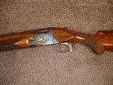 """Browning Superposed GD 1 Upgrade 1965 12Ga. 28"""" Game Scene Engraved with Gold Inlays by Bill Mains ExcellentRound Butt long tang - 3 of 20"""