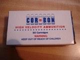 Corbon 9 m/m Luger 115Gr. JHP +P High Performance Ctgs. 1- 50 Round Box Mint