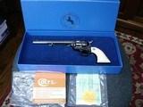 "Colt SAA Rare .38/40WCF Mod.P-3870Z Spec.Order Full Royal Blue 7 1/2"" BBl. Beveled Cyl. Real Ivory Stocks NIB 1995 Custom Shop"