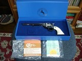 "Colt SAA Rare .38/40WCF Mod.P-3870Z Spec.Order Full Royal Blue 7 1/2"" BBl. Beveled Cyl. Real Ivory Stocks NIB 1995 Custom Shop - 18 of 19"