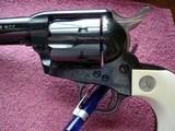 "Colt SAA Rare .38/40WCF Mod.P-3870Z Spec.Order Full Royal Blue 7 1/2"" BBl. Beveled Cyl. Real Ivory Stocks NIB 1995 Custom Shop - 11 of 19"