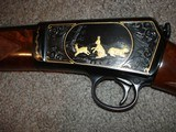 Win. Model 631937 Restored to Mint Fancy Walnut, Engraved with Gold inlays Stunning! Semi-Auto .22LR. - 14 of 16
