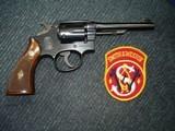 """S&W Military Police 5-Screw 5"""" BBl. MFG 1947 Mint .38 Spec. Diamond Walnut Stocks Numbered to Rev. S-Prefex -Unfired?"""