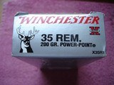 Hard to Find Winchester .35 Rem. 200 Gr. Power PointRifle Ctgs. 20 Round Box