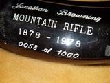 "Browning ""John Browning Centennial Mountain Rifle"" in .50 cal. No.58 of 1000 - 4 of 6"
