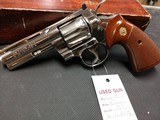 "COLT PYTHON .357 NICKEL 4"" BARREL VERY GOOD CONDITION WITH BOX - 12 of 16"