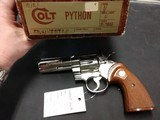 "COLT PYTHON .357 NICKEL 4"" BARREL VERY GOOD CONDITION WITH BOX - 11 of 16"