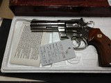 "COLT PYTHON .357 NICKEL 4"" BARREL VERY GOOD CONDITION WITH BOX - 9 of 16"