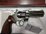 "COLT PYTHON .357 NICKEL 4"" BARREL VERY GOOD CONDITION WITH BOX - 8 of 16"