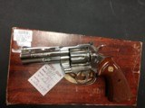 "COLT PYTHON .357 NICKEL 4"" BARREL VERY GOOD CONDITION WITH BOX - 1 of 16"