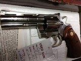 "COLT PYTHON .357 NICKEL 4"" BARREL VERY GOOD CONDITION WITH BOX - 10 of 16"