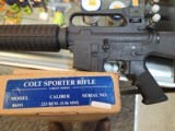 PRE BAN COLT SPORTER TARGET MODEL 5.56 NATO, MAAND CT COMPLIANT UNFIRED WITH BOX - 1 of 20