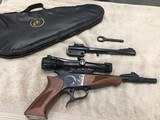 Thompson Contender 44 Magnum with choke, Blue with Bushnell Scope and extra 22LR Barrel