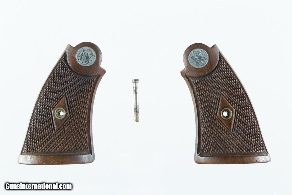 Smith & Wesson Pre War N-Frame Service Grips 1930\'s Large Silver ...