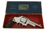 Smith & Wesson Pre War .38/44 Heavy Duty RARE Nickel Factory Letter & Box 99% - 2 of 14