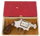 Smith & Wesson Pre Model 36 'Baby Chief' ORIGINAL NICKEL Ultra Rare 1952 Factory Letter 99% - 4 of 11