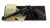 "Smith & Wesson 2nd Model 44 HE Mfd. 1922 Rare Lanyard Ring 6.5"" w/ Box & Paperwork Pre War 99%"