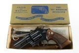 "Smith & Wesson Pre Model 27 .357 Magnum 3 1/2"" Blued Mfd. 1955 Complete in Original Gold Box 99%!"