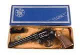 Smith & Wesson Model 14 No Dash K-38 Masterpiece Original Box & Grips Mfd. 1959 4-Screw 99% - 2 of 14