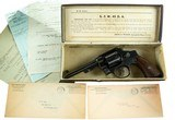 Smith & Wesson 1917 Army INCREDIBLE PROVENANCE Delivered 1930 to WWI Veteran SW Gray Original Grips & Box MUST SEE 99%