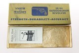 Smith & Wesson Pre Model 23 .38/44 Outdoorsman Mfd. 1954 5-Screw Gold Box 99% - 3 of 14
